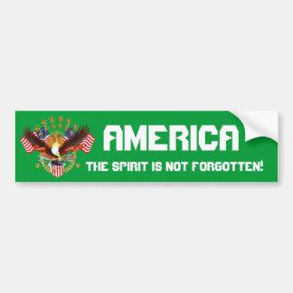 L'esprit de l'Amérique n'est pas oublié svp voient Autocollant De Voiture