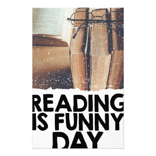 Lesung ist lustiger Tag Briefpapier