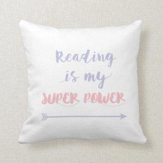 Lesung ist mein SuperPower Kissen
