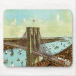 L'état de New York City New-York de pont de Brookl Tapis De Souris