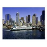 L'état de Washington de ferry de Seattle Cartes Postales