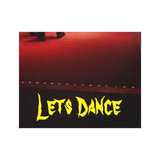 Lets Dance ... Leinwanddruck