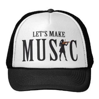 let's make music female violin player retrokappe