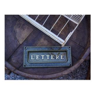 Lettere (Buchstaben) Postkarte