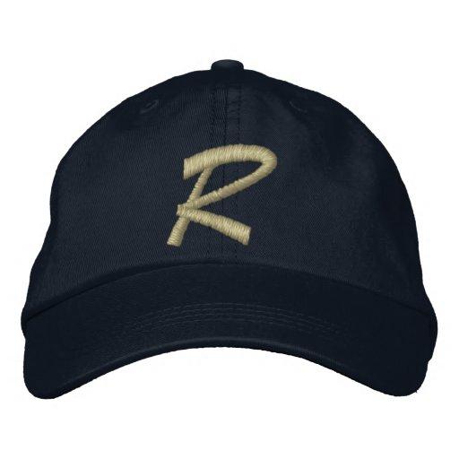 Lettre R de monogramme brodée Chapeaux Brodés