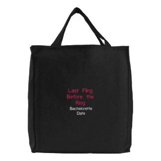 Letzte Flings-Sachen-Tasche Bestickte Tragetasche