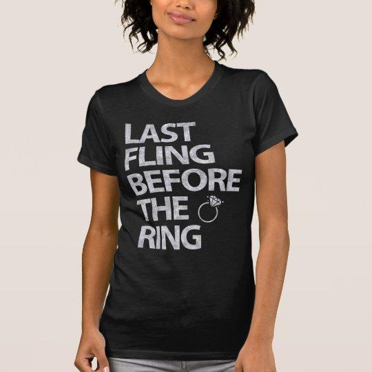 Letzter Fling vor den Ring-Silber-Glitter-Shirts T-Shirt
