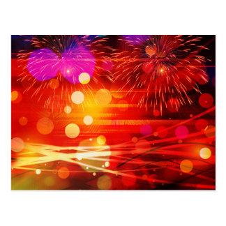 Leuchten Sie den Himmel-hellen Strahlen und den Postkarte