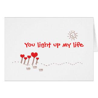 Leuchten Sie meinem Leben Karte