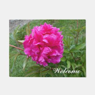 Leuchtende rosa Pfingstrose Türmatte