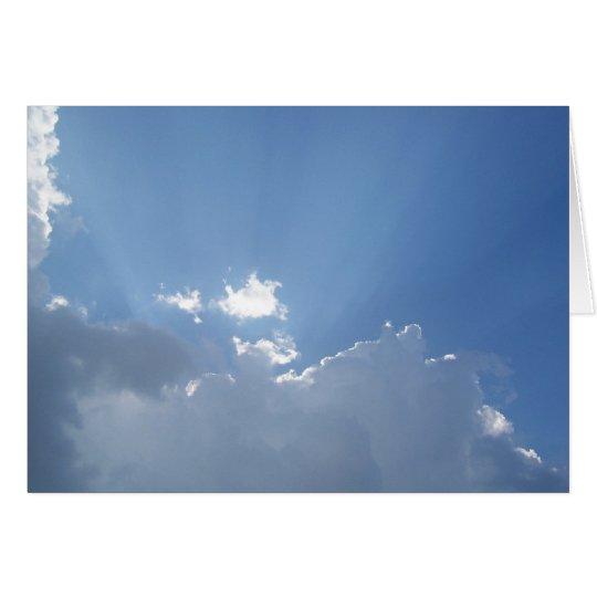 Leuchtende Sunbeams Karte
