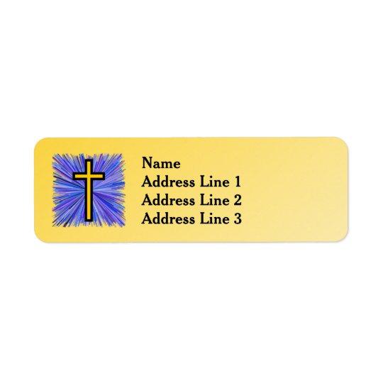 Leuchtendes Kreuz auf gelbem Steigungs-Hintergrund