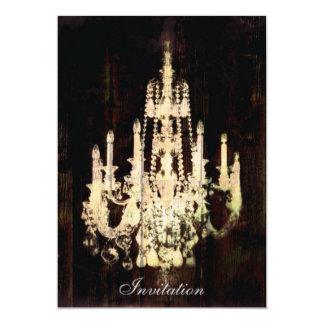 Leuchter-Paris-Mode des Vintagen Grunge elegante 12,7 X 17,8 Cm Einladungskarte