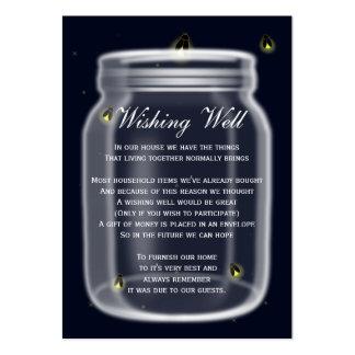 Leuchtkäfer-Weckglas, das wohle Karten wünscht Mini-Visitenkarten