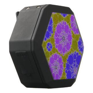Leuchtstoff blaues Grün-abstrakte Blumen Schwarze Bluetooth Lautsprecher