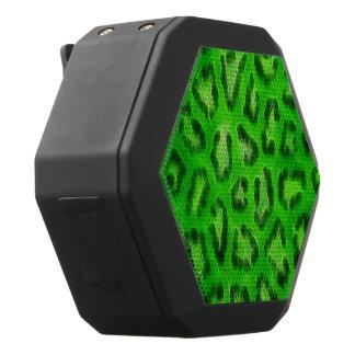 Leuchtstoff grüner Cheetah-abstrakte Schwarze Bluetooth Lautsprecher