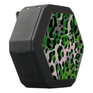 Leuchtstoff grüner grauer Cheetah abstrakt Schwarze Bluetooth Lautsprecher