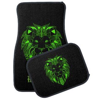 Leuchtstoff grüner und schwarzer Löwe mit Automatte