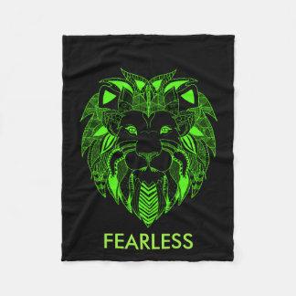 Leuchtstoff grüner und schwarzer Löwe mit Fleecedecke