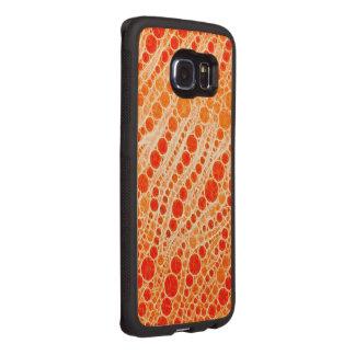 Leuchtstoff orange Zebra abstrakt Handyhülle Aus Holz