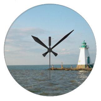 Leuchtturm an der Ontariosee-Uhr Große Wanduhr