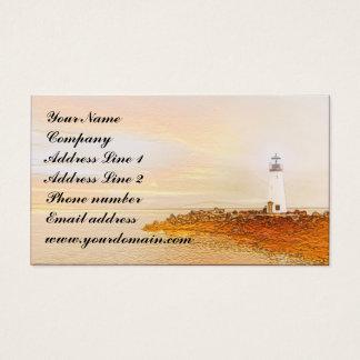 Leuchtturm-Entwurfs-Visitenkarte Visitenkarte