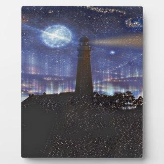 Leuchtturm Fotoplatte