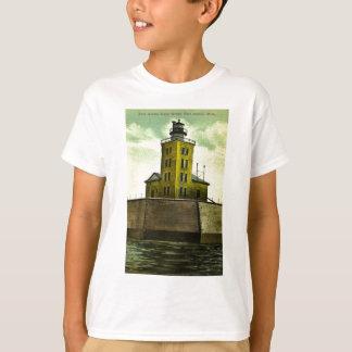 Leuchtturm-Grüße Hafen-Austins Michigan von T-Shirt