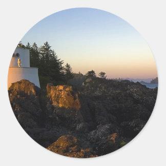 Leuchtturm-Linda Foto Runder Sticker