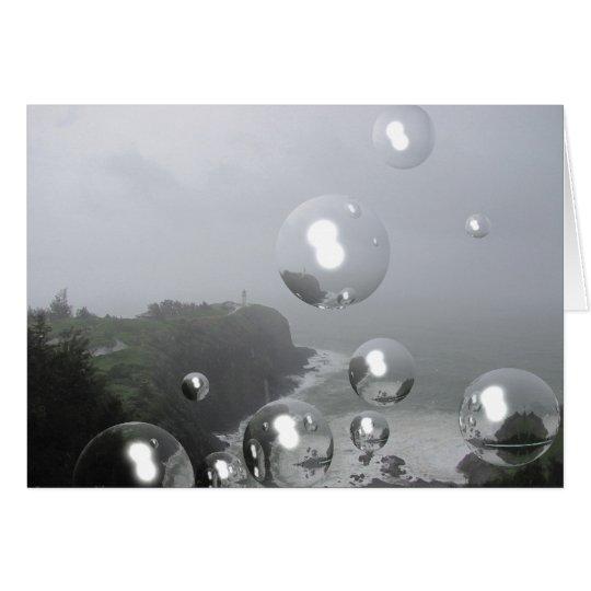 Leuchtturm-Nebel Grußkarte