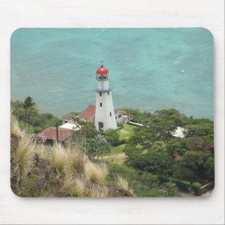 Leuchtturm unten auf dem Ozean Mousepad
