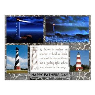 Leuchtturm-Vatertagspostkarte Postkarte