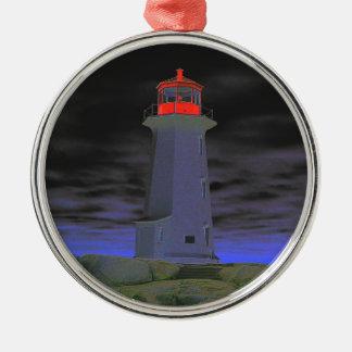 Leuchtturmverzierung Peggy Bucht Neuschottland Silbernes Ornament