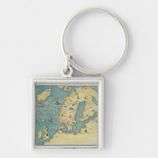 L'Europe du Nord Porte-clef