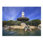 L'Europe, France, Aix-en-Provence. Fontaine De Carte Postale
