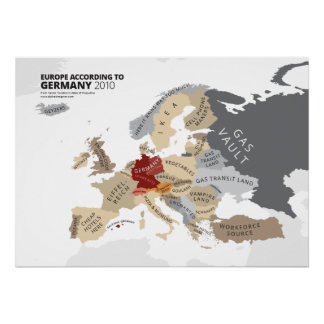 L'Europe selon l'Allemagne Posters