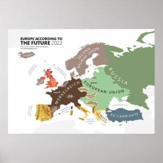 L'Europe selon le futur 2022 Poster
