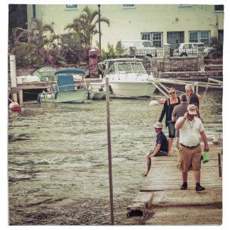 Leute auf dem Pier 2 Stoffserviette