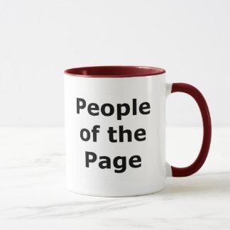 """""""Leute der Seite"""" Schwarzes auf Licht Tasse"""