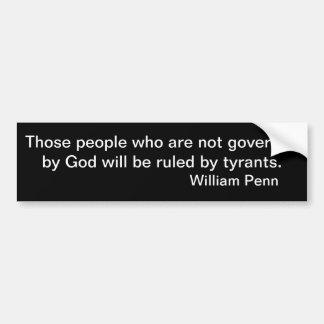 Leute geregelt nicht vom Gott Autoaufkleber
