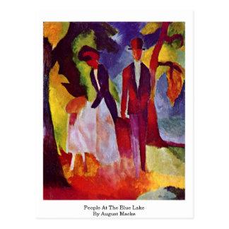 Leute in dem blauen See bis August Macke Postkarte