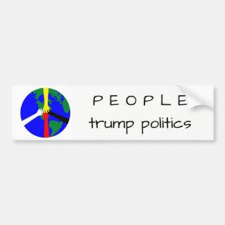 Leute-Trumpf-Politik - Autoaufkleber