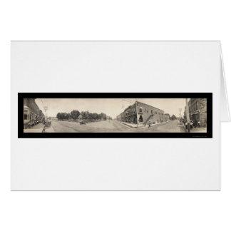 Leute von Glenwood IA Foto 1908 Karte