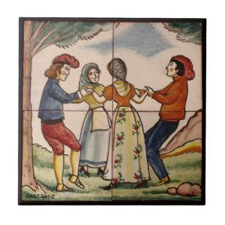 Leute von Spanien die Sardana-Keramik Trivet Keramikfliese