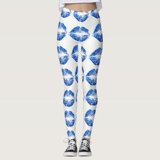 Lèvres bleues #2 de scintillement leggings