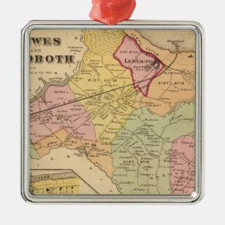 Lewes und Rehoboth Quadratisches Silberfarbenes Ornament