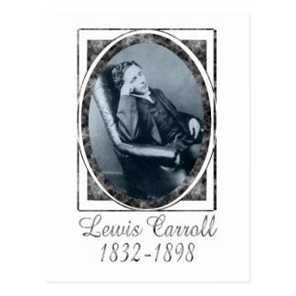 Lewis Carroll Postkarte
