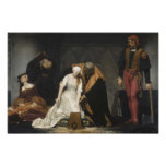 L'exécution de Madame Jane Grey Affiche