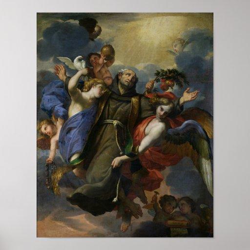 L'extase de St Peter d'Alcantara Affiche