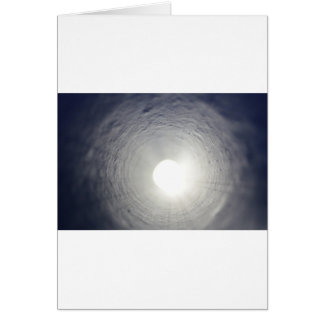 L'extrémité du tunnel carte de vœux